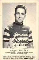 ROGER RIVIERE ,CHAMPION DE FRANCE ,ET CHAMPION DU MONDE DE POURSUITE ,RECORDMAN DU MONDE DE L'HEURE  REF 55916 - Cyclisme