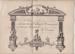 Tableau D'Honneur Février 1887 (Format 29 X 24) - Diplomi E Pagelle