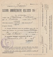 Documento Elettorale - COMUNE DI FORMIA Elezioni Amministrative Anno 1946 FORMIA - Decreti & Leggi