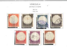 Venezuela PA 1957/58 Bolivar   .Scott.C636/642 +See Scans On Scott.Page - Venezuela