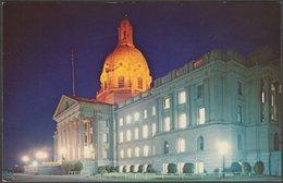 Provincial Parliament Building, Edmonton, Alberta, C.1960s - Provincial News Co Postcard - Edmonton