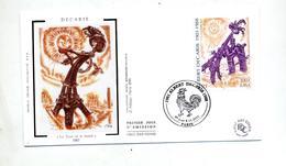 Lettre Fdc 2001 Paris Decaris - FDC
