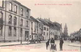 88-SAINT-DIE- RUE D'ALSACE- MAISONS INCENDIEES PAR LES OBUS ALLEMANDS LE 27 AOUT 1914PENDANT LES BONBARDEMENTS - Saint Die