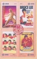 CHINA  Telefonkarten  - Coca Cola - Bruce Lee - Siehe Scan - - Kino