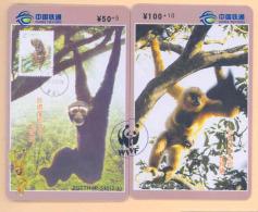 CHINA  Telefonkarten  - WWF Tierwelt  - Siehe Scan - - Kino