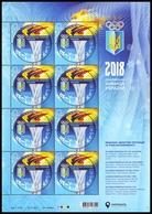 UKRAINE 2018. XXIII WINTER OLYMPIC GAMES In PYEONGCHANG. NATIONAL TEAM OF UKRAINE. Sheet Of 8 X Mi-Nr. 1679. MNH (**) - Inverno 2018 : Pyeongchang