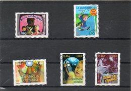 FRANCE     Série Complète  5 Timbres 0,46 €  (3,00 F )    2001      Y&T:3372 à 3376   Oblitérés - France
