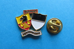 Pin's, Ville, BÖSINGEN, Blason,Wappen,Suisse - Cities