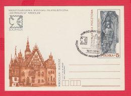230260 / 1984 - 5 Zl. -  Philatelic Exhibition Socfilex 84 , WROCLAW , Poland Pologne Stationery - Entiers Postaux