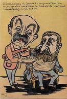 CPA Clemenceau Satirique Caricature Non Circulé Voir Scan Du Dos Jean Jaures Barbier Rasoir DASPET - Satirical