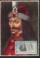 VAMPIRE / DRACULA    Carte Maximum - Roumanie / Romania 1959 Tres Rare. - Fairy Tales, Popular Stories & Legends