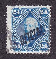 Argentina, Scott #O10, Used, Regular Issues Overprinted, Issued 1884 - Dienstpost