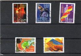 FRANCE     Série Complète  5 Timbres   3,00 F (0,46 € )  2001      Y&T:3422 à 3426   Oblitérés - France