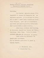 Carta Intestata + Busta UNIONE CATTOLICA ITALIANA OSTRETICHE Vittorio Veneto - Partecipazioni