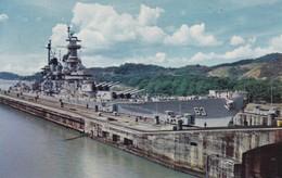 PANAMA. CANAL DE PANAMA, ACORAZADO USS. MIRRO KROME. VOYAGEE.-TBE-BLEUP - Panama