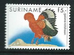 SURINAME MNH - 1986 Birds Rupicola Rupicola - 5 Guilder - Michel SR 1165 - Suriname