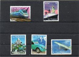 FRANCE     Série Complète  5 Timbres 0,46 €   2002      Y&T:3471 à 3475   Oblitérés - France