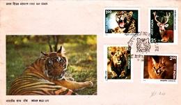 India 1976 Wildlife FDC - FDC