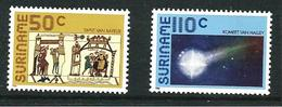 SURINAME MNH - 1986 Appearance Of Halley's Comet - Vari Cent - Michel SR 1170 1171 - Suriname