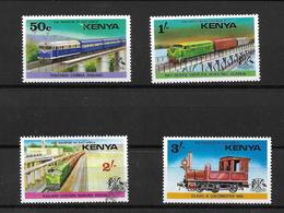 Kenya 1976 Railway Transport Complete Set Mint (2/- Used) (6553) - Kenya (1963-...)