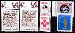KROATIEN, 1992, ZZ 20 A+B,21,22,23,25, MNH **, - Croatie