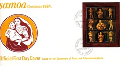 Samoa 1984 Christmas Souvenir Sheet FDC - Samoa