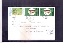 Lettre De République Populaire Du Congo Vers La Belgique - 1983 (à Voir) - Oblitérés