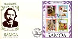 Samoa 1985 Christmas Souvenir Sheet FDC - Samoa