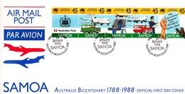 Samoa 1988 Australia Bicentenary FDC - Samoa