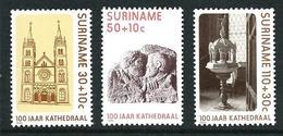 SURINAME MNH - 1986 100th Anniversary Of St. Peter And St. Paul's Cathedral Paramaribo - Vari Cent - Michel SR 1177 1179 - Suriname