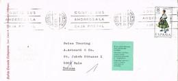 28280. Carta ESTEPONA (Malaga) 1973.  Bahia Dorada . Viñeta, Label, Direccion - 1931-Oggi: 2. Rep. - ... Juan Carlos I