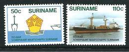 SURINAME MNH - 1986 The 50th Anniversary Of Surinam Shipping Line - Vari Cent - Michel SR 1185 1186 - Suriname