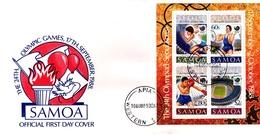 Samoa 1988 Olympic Games Seoul Souvenir Sheet FDC - Samoa