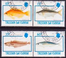 TRISTAN DA CUNHA 1992 SG #531-34 Compl.set Used Fishes - Tristan Da Cunha