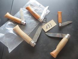 5 Couteaux,canifs ,dont 4 OPINEL,,,   Plusieurs Scans ,,, ((  Lot  N°  193 )) - Knives