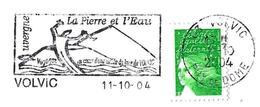 France (2004) Volvic (63): La Pierre Et L'eau. Lave De Volvic, Volcan. Stone And Water: Volvic Lava (andesite). Volcano. - Volcanes