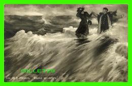 RUSSIE - ART - PEINTURE - UN HOMME SAUVE UNE DAME DES FLOTS - - Russie