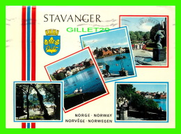 STAVANGER, NORWAY - 5 MULTIVUES -  TRAVEL IN 1974 - VIEW OF LAKE BREDEVANNET - - Norvège