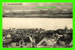 NEUCHÂTEL, SUISSE - VUE DE NEUCHÂTEL ET LES ALPES -  PHOTOTYPIE CO - - NE Neuchâtel