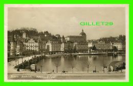 LUZERN, SUISSE - SEABRUCKE - SCHWEIZERHOFQUAI - TRAVEL IN 1929 - E. GOETZ - - LU Lucerne