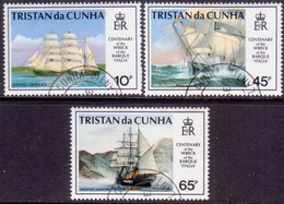 TRISTAN DA CUNHA 1992 SG #535-38 Compl.set+m/s Used Wreck Of Barque Italia - Tristan Da Cunha