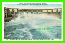 PANAMA - GATUN SPILLWAY FOR DISCHARGING SURPLUS WATER FROM GATUN LAKE, PANAMA CANAL - I. L. MADURO JR - - Panama
