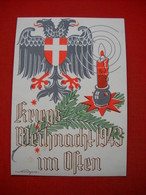 """""""Kriegsweihnacht 1943 Im Osten"""",Feldpost-Propagandakarte, Farbig Gestaltet, Ungebraucht Top - Deutschland"""