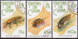 TRISTAN DA CUNHA 1993 SG #539-41 Compl.set Used Insects - Tristan Da Cunha