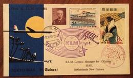 GIAPPONE POSTA AEREA PRIMO VOLO TOKYO - BIAK (NUOVA GUINEA)  DEL 7/11/58 - Tokyo