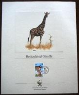(dcth-285)  Kenia  WWF  Mi 481-84 Yvert  474-77 1989  Proof Edition - Edition épreuve - Proef Editie - 8 Scans  Giraffes - Kenya (1963-...)