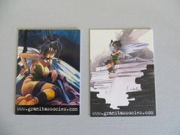 Lot De 2  Mini-cartes La Fée Clochette- BD Loisel Peter-pan - Cartes Postales