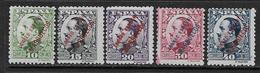 Maroc Espagnol  YT 182, 183, 184, 185, 186 Neufs*. - Maroc Espagnol