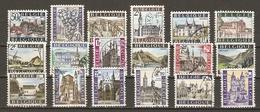 Belgique - 1965/71 - Pour Le Tourisme - Série Complète De 18° - Huy - Hoeilaart -Bouillon - Lier - Spontin - Ieper - Spa - Belgique