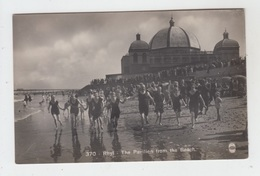 WALES - RHYL / THE PAVILION FROM THE BEACH - REAL PHOTO     475061139 - Denbighshire